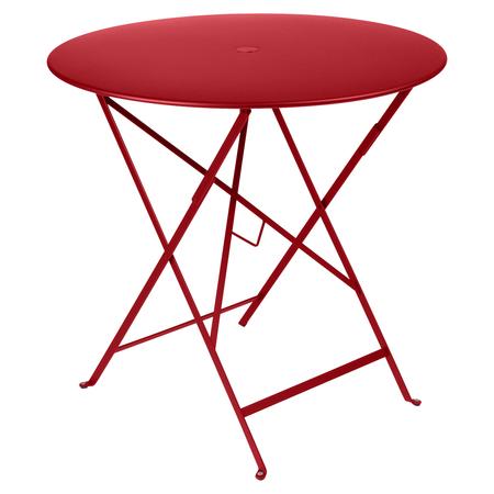 Fermob Tisch Bistro Rund Mohnrot 67 ø 77 cm