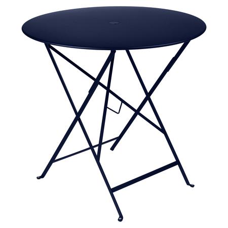 Fermob Tisch Bistro Rund Abyssblau 92 NEU ø 77 cm