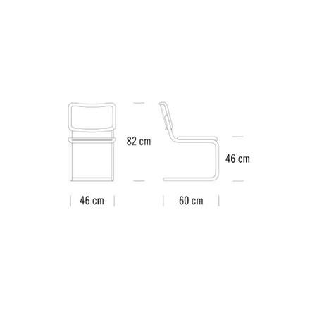 Stuhl S32 V Thonet