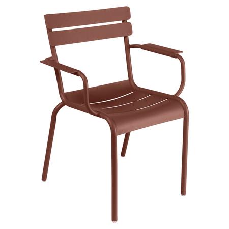 Fermob Luxembourg Stuhl  Stuhl mit Armlehnen,  Ockerrot 20 NEU