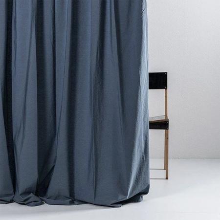 Vorhang Blau ägyptische Baumwolle ZigZagZurich