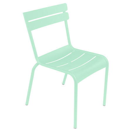 Opalgrün Stuhl Luxembourg ohne Armlehne Fermob