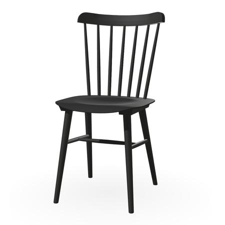 Ton Stuhl im Retro-Stil für den Esstisch  Buche Dark Wenge (B105),  Helle Kunststoffgleiter