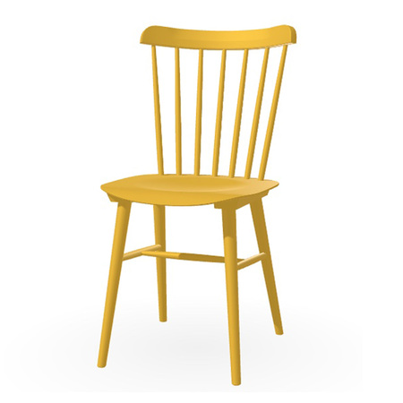 Ton Stuhl im Retro-Stil für den Esstisch  Eiche Pigmentiert Ingwergelb (B 32),  Dunkle Filzgleiter