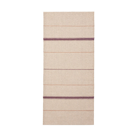 Brita Sweden Vinyl Teppich 'Trapeze'  80 x 225 cm,  Bordeaux