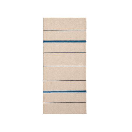 Brita Sweden Vinyl Teppich 'Trapeze'  80 x 150 cm ,  Indigo