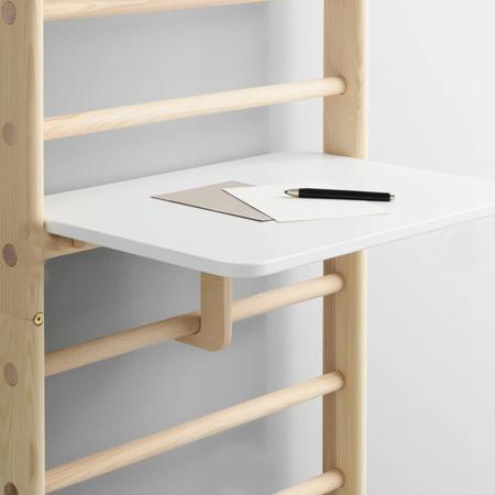 Kaos Schreibtisch für Sprossenwand Weiss
