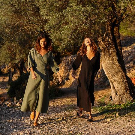 Jungle Folk Wickelkleid aus Leinen von 'Jungle Folk' S/M
