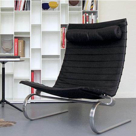 Fritz Hansen Loungesessel 'PK20' in Leder
