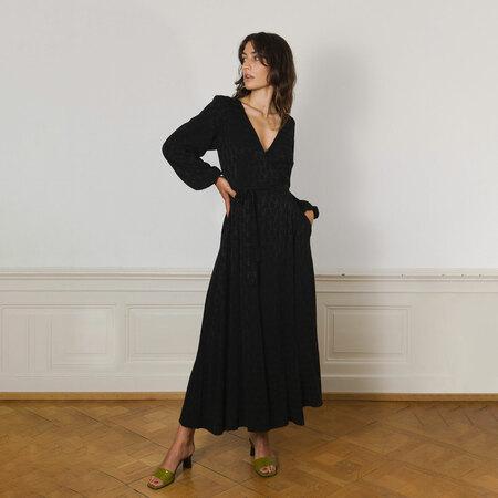 Wickelkleid von 'Komana' in Schwarz