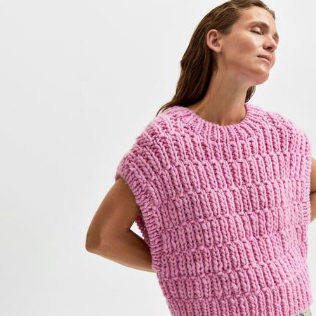 Strickweste von 'Selected Femme' in Pink