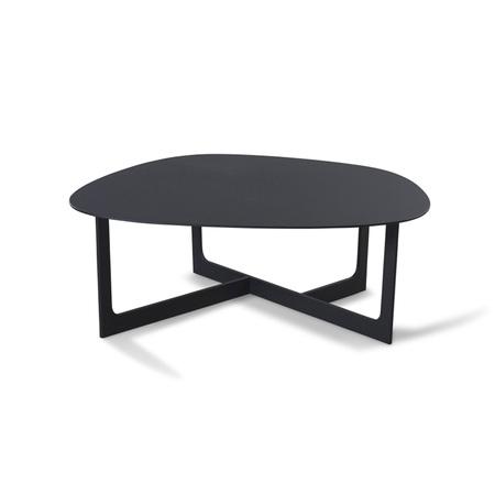 Erik Jørgensen Insula Table Aluminium schwarz, B: 95 cm / T: 98 cm