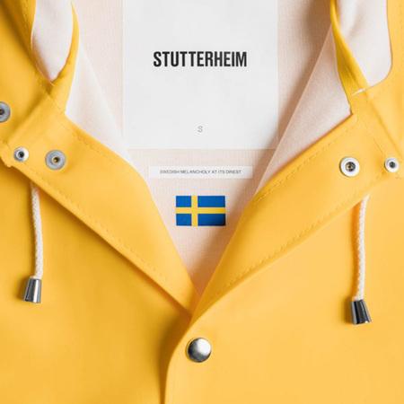 Stutterheim Unisex Regenmantel Stockholm von Stutterheim  Yellow