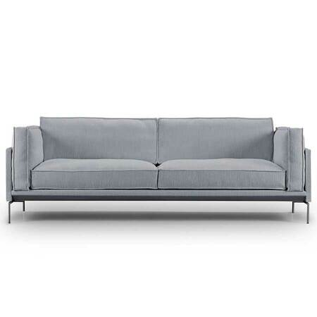 Eilersen Neu: Sofa 'Slimline' Hellgrau - Gravel 26, L: 180 cm