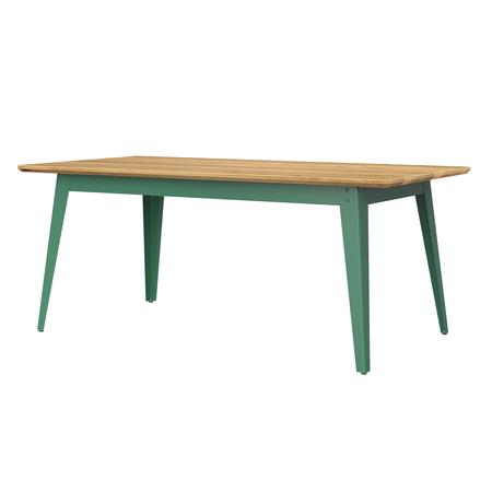 Jan Cray 6Grad Tisch Holz Spindgrün, Eichenholz geölt, B: 70 cm / L: 120 cm
