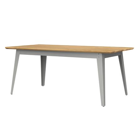 Jan Cray 6Grad Tisch Holz Hellgrau, Eichenholz geölt, B: 70 cm / L: 120 cm