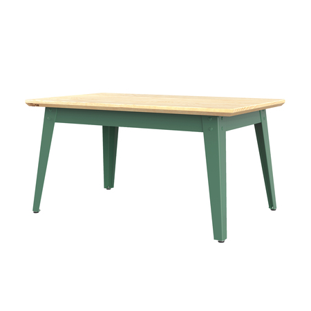 Jan Cray 6Grad Couchtisch Holz Spindgrün, Eschenholz geölt, B: 55 cm / L: 90 cm / H: 46 cm