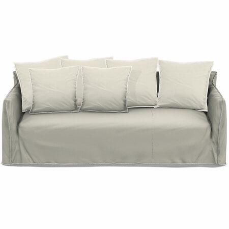 Gervasoni Sofa 'Ghost' B: 260 cm / T: 100 cm , Lino Bianco - Natural