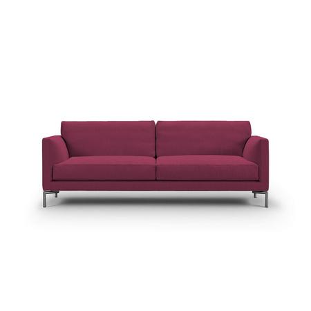 Eilersen Sofa Mission Rotviolett 28 - Sand, B: 180 cm , festsitzend