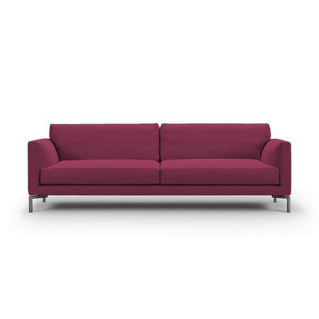 Eilersen Sofa Mission Rotviolett 28 - Sand, B: 210 cm, festsitzend