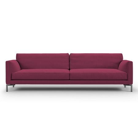 Eilersen Sofa Mission Rotviolett 28 - Sand, B: 230 cm, festsitzend