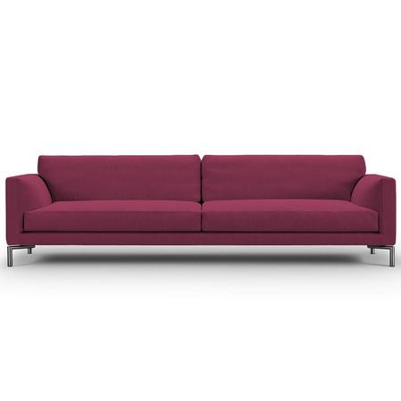 Eilersen Sofa Mission Rotviolett 28 - Sand, B: 240 cm, festsitzend
