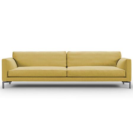 Eilersen Sofa Mission Sandgelb 08 - Nature, B: 240 cm, festsitzend