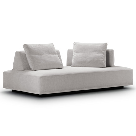 Eilersen Sofa 'Playground' Schwarz-weiss 120 (Wirkung Hellgrau)- Termoli, B: 200 cm / T: 130 cm