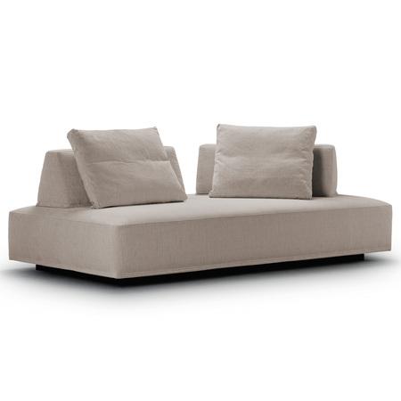 Eilersen Sofa 'Playground' Schwarz-Sandfarben 137 - Termoli, B: 200 cm / T: 130 cm