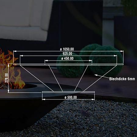Attika Feuerstelle 'Circle' Feuer 03