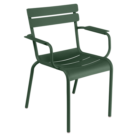 Zederngrün Stuhl Luxembourg mit Armlehne Fermob