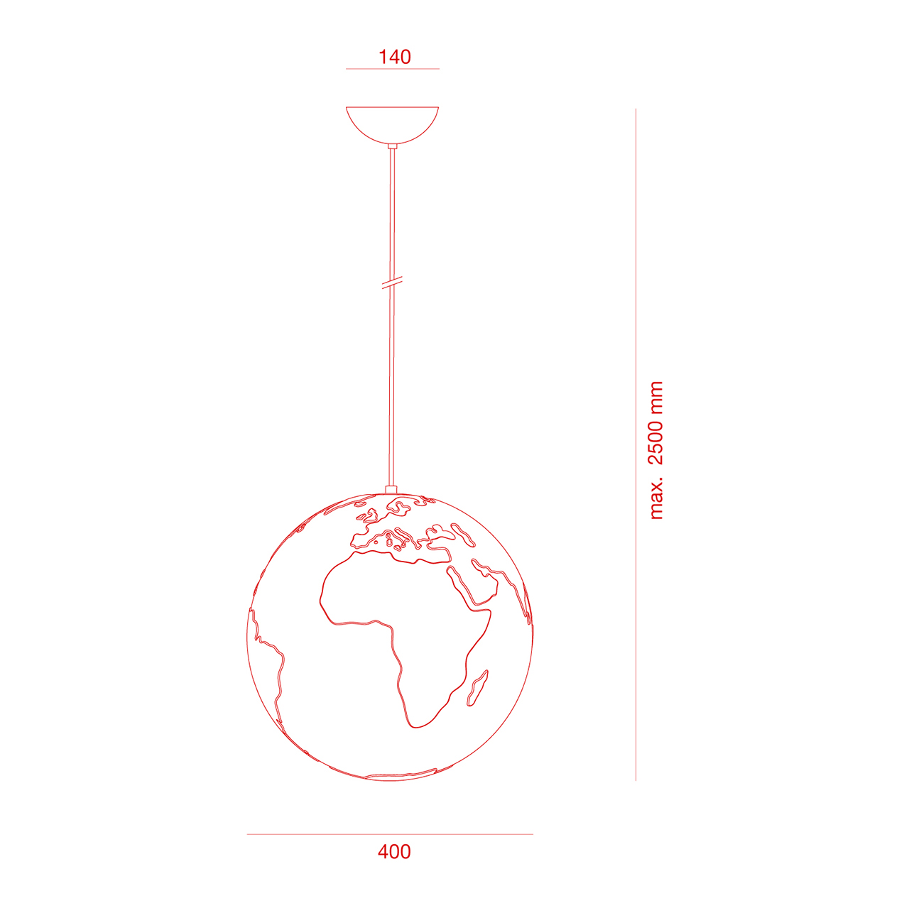 Pendelleuchte Planet Earth Formagenda