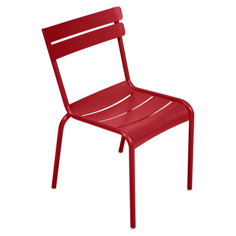 Fermob Luxembourg Stuhl Mohnrot 67 Stuhl ohne Armlehnen