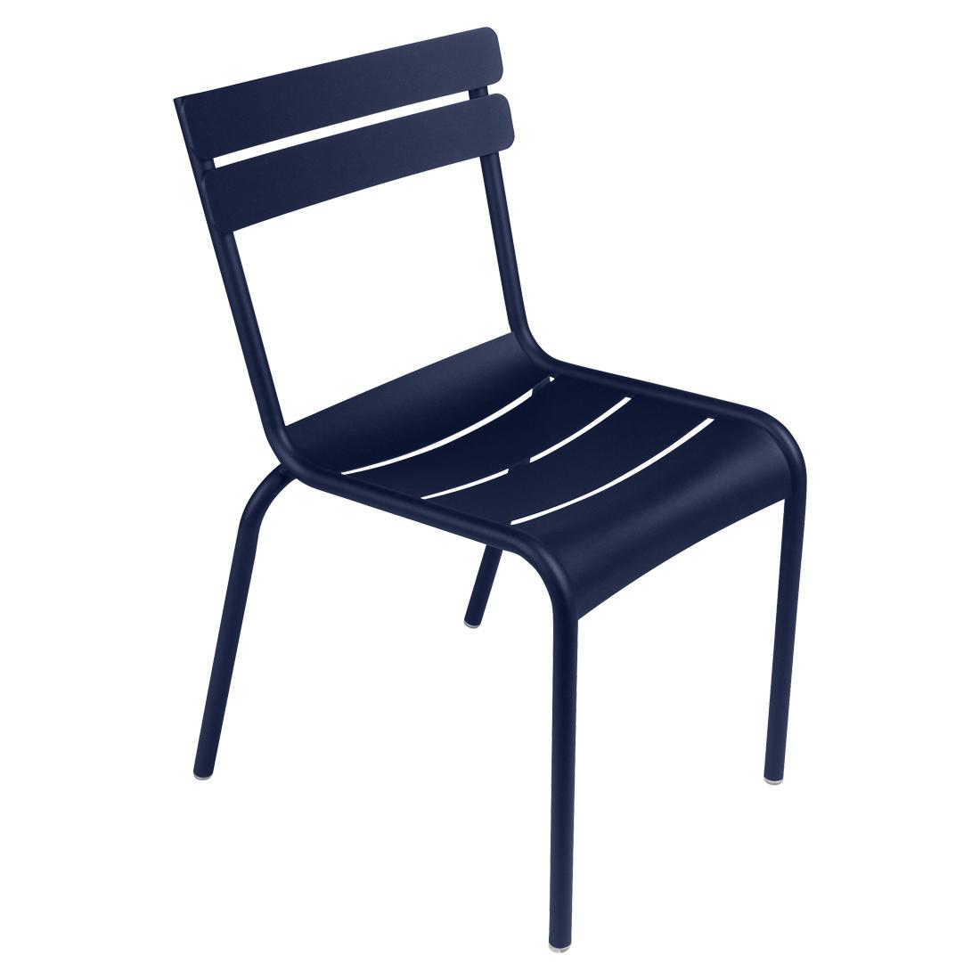 Fermob Luxembourg Stuhl Abyssblau 92 NEU Stuhl ohne Armlehnen