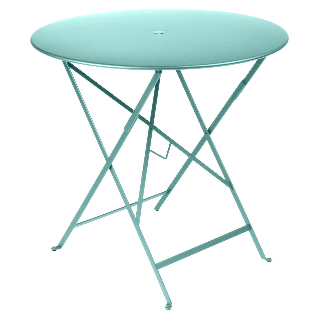 Fermob Tisch Bistro Rund Lagunenblau 46  ø 77 cm