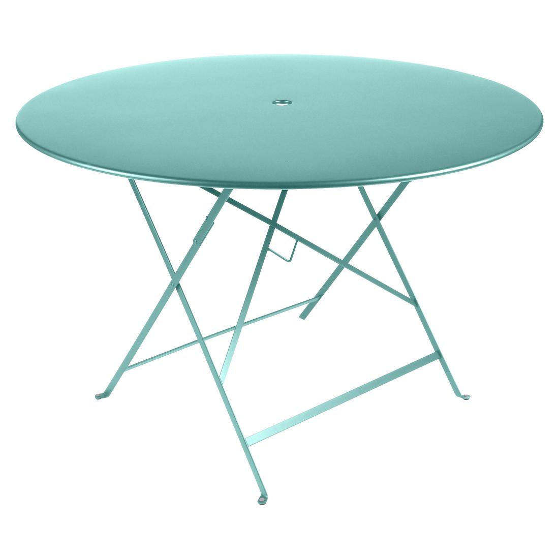 Fermob Tisch Bistro Rund Lagunenblau 46  ø 117 cm