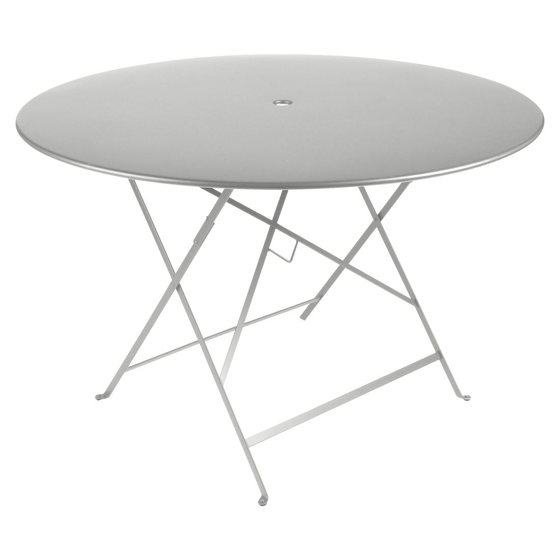 Fermob Tisch Bistro Rund Metallgrau / Silber 38 ø 117 cm