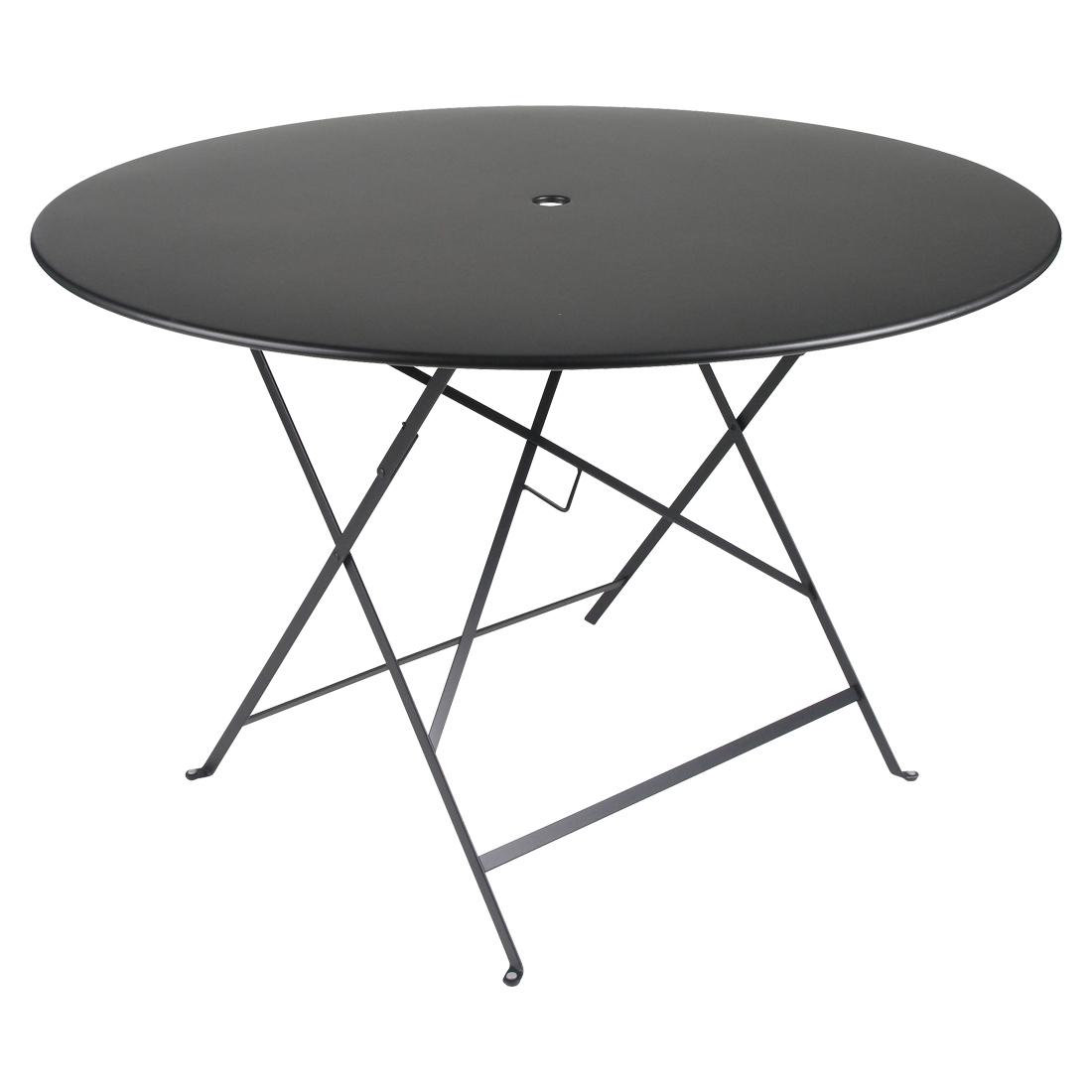 Fermob Tisch Bistro Rund Lakritze / Schwarz 42 ø 117 cm