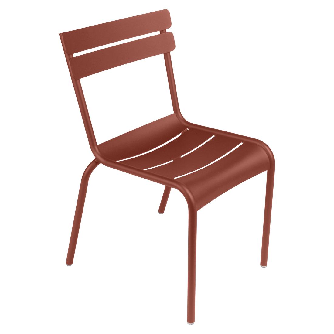 Ockerrot Stuhl Luxembourg ohne Armlehne Fermob