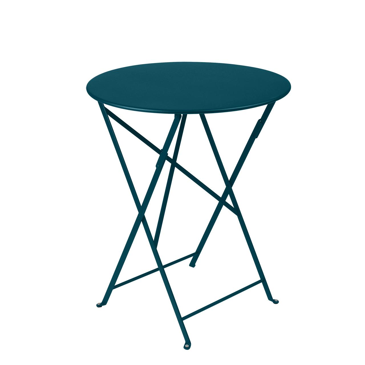 Fermob Tisch Bistro Rund  ø 60 cm ,  Acapulcoblau 21 NEU