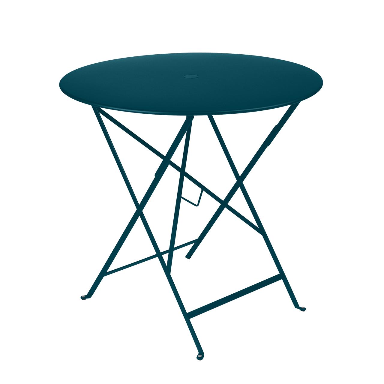 Fermob Tisch Bistro Rund  ø 77 cm ,  Acapulcoblau 21 NEU