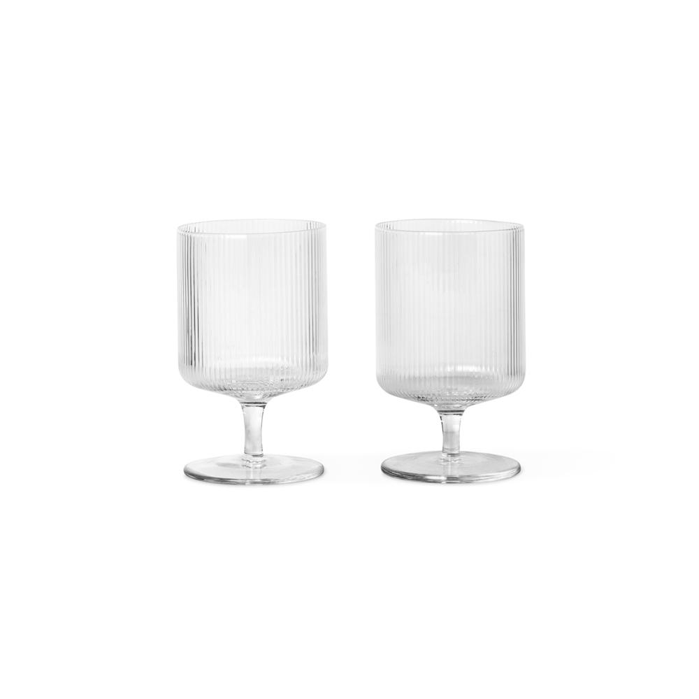 Glas Ripple Weinglas Ferm Living