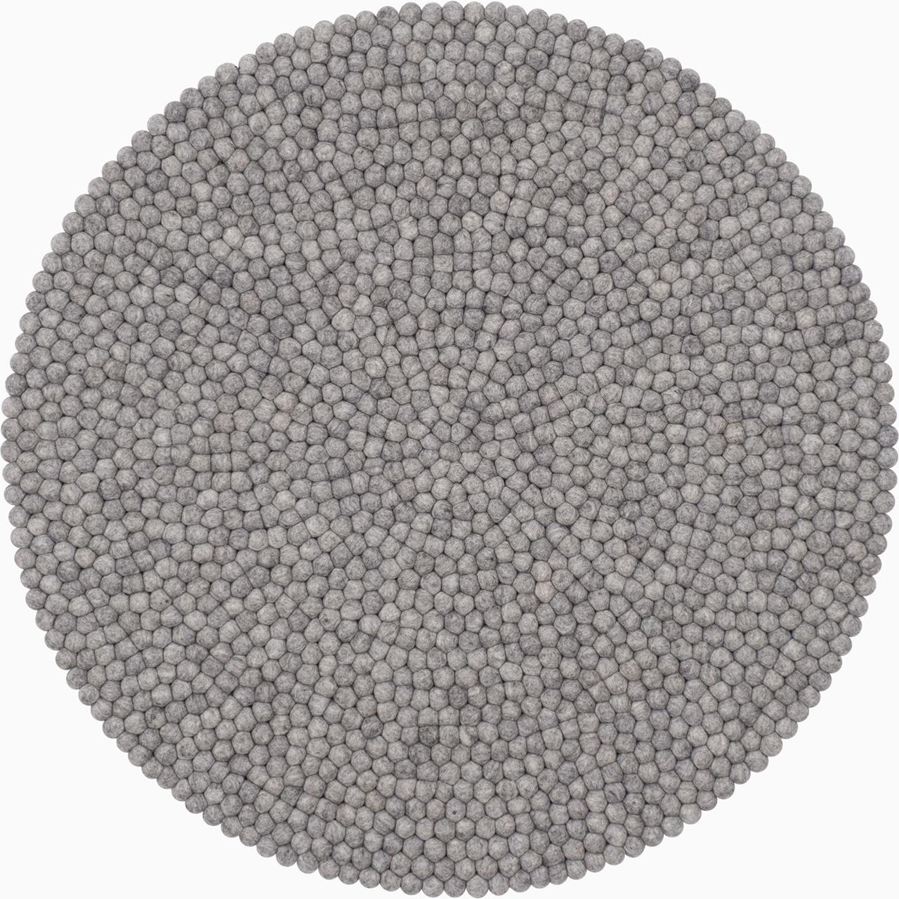 Teppich Mono Grau Meliert My Felt