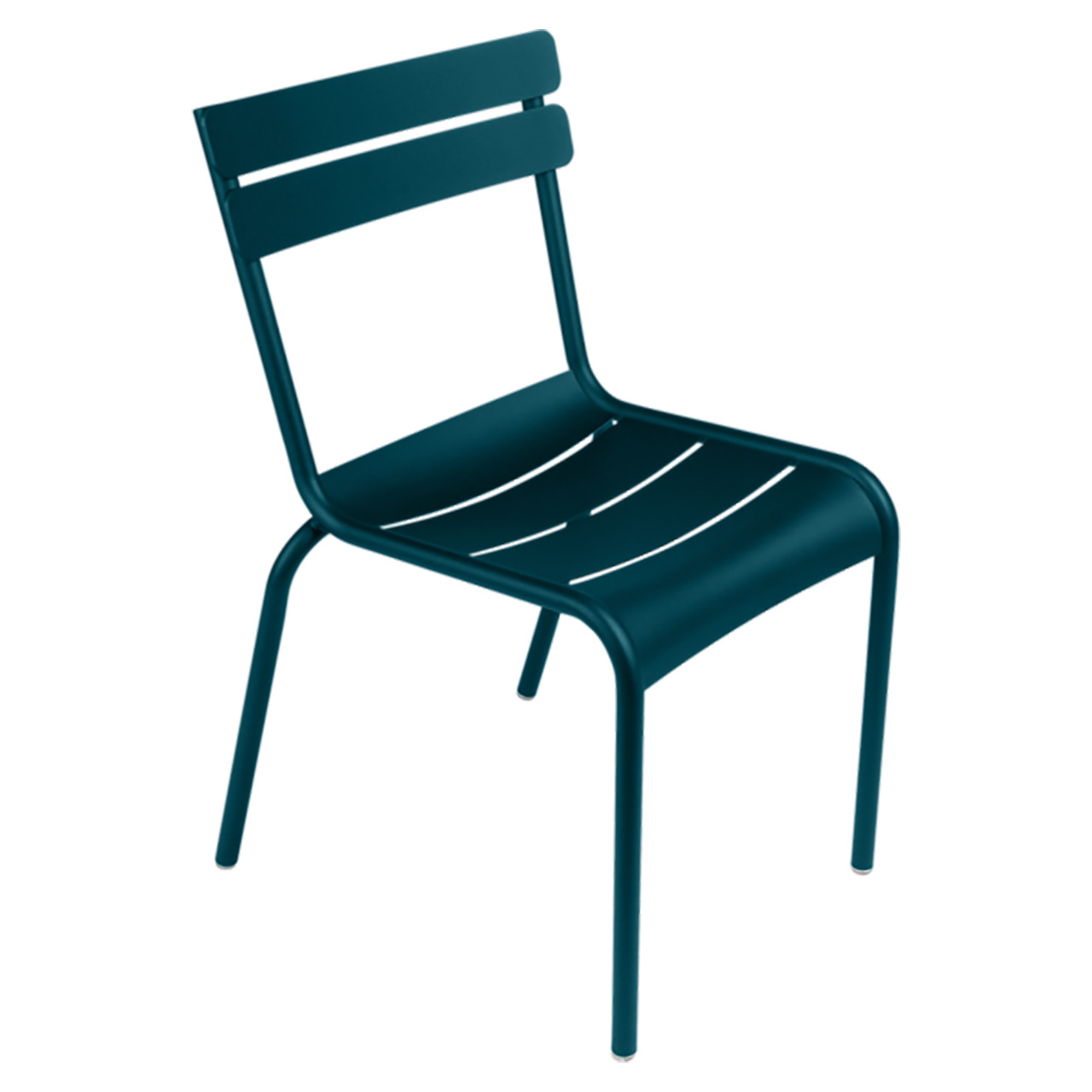 Acapulcoblau Stuhl Luxembourg ohne Armlehne Fermob