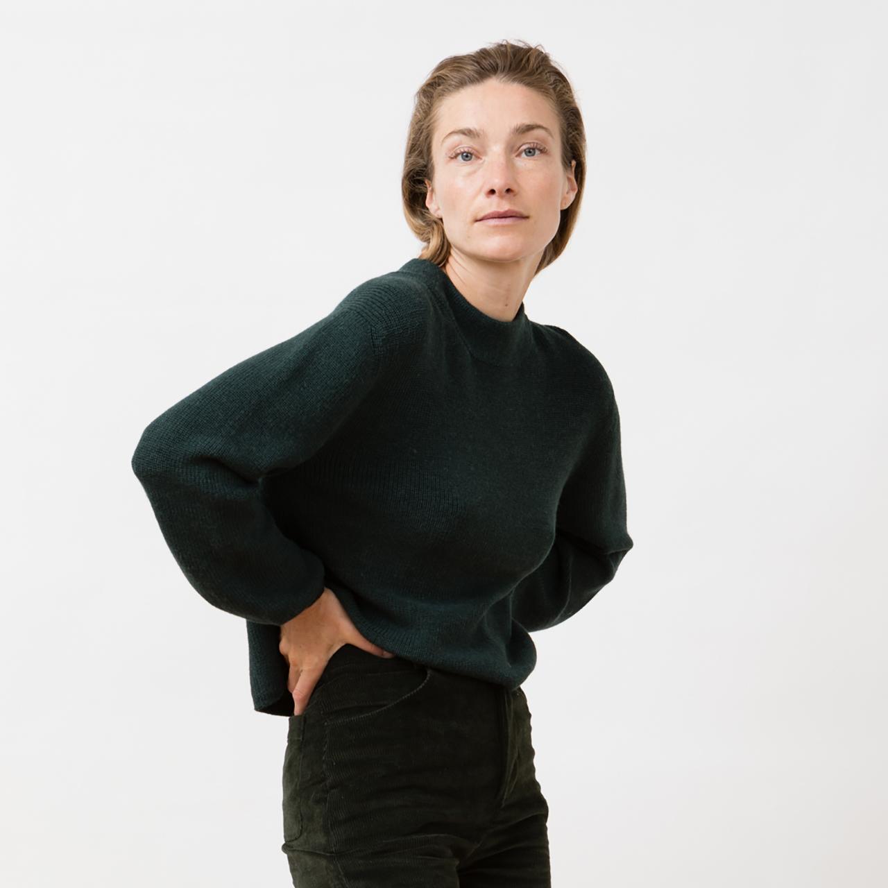 Dunkelgrüner Strick-Sweater von 'Jungle Folk'
