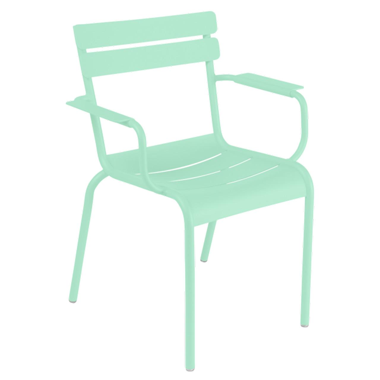 Fermob Luxembourg Stuhl Opalgrün 42 Stuhl mit Armlehnen