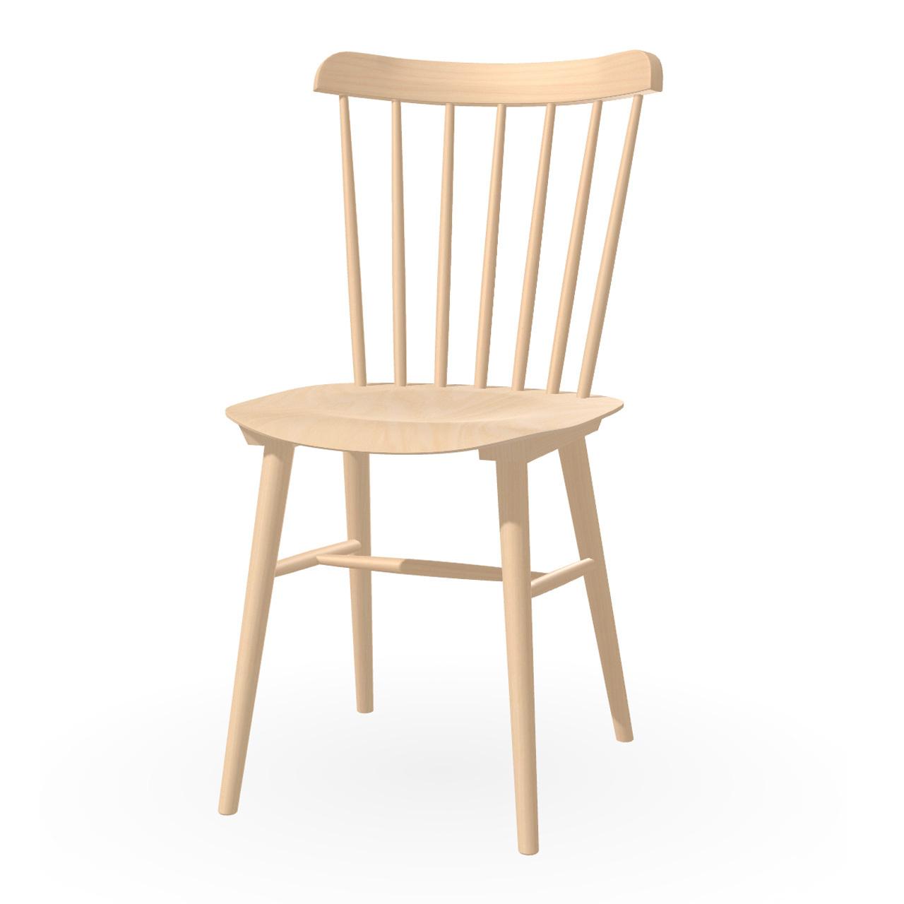 Ton Stuhl im Retro-Stil für den Esstisch  Eiche Natural lackiert,  Helle Kunststoffgleiter