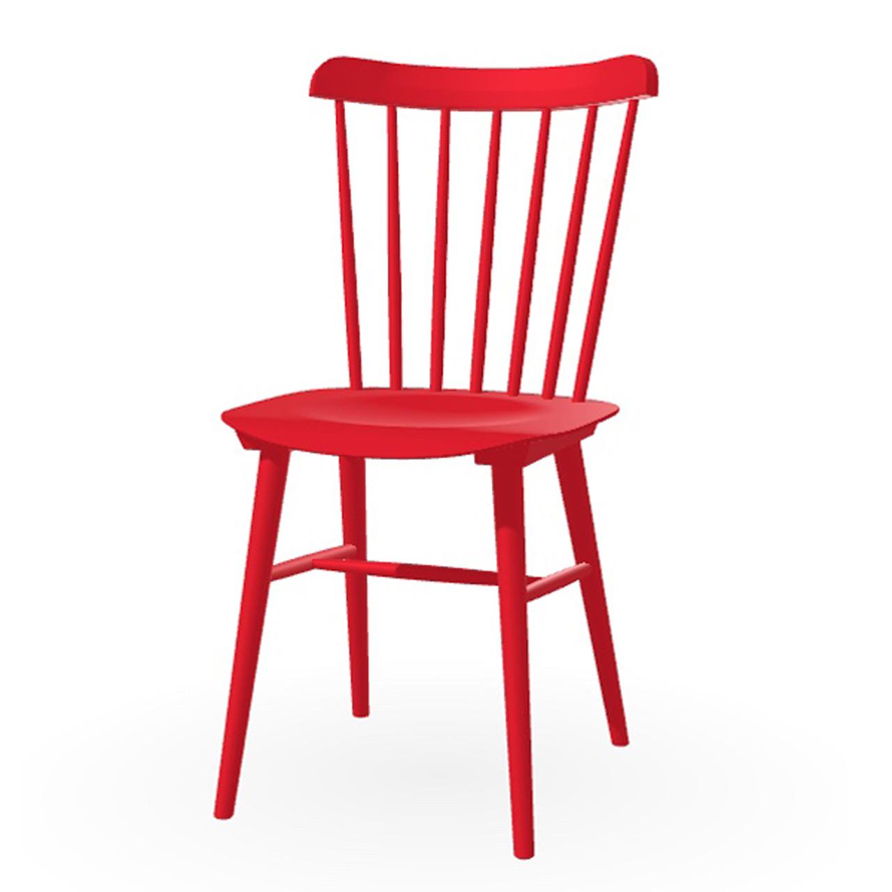 Ton Stuhl im Retro-Stil für den Esstisch  Eiche Pigmentiert Rubinrot (B 43),  Dunkle Filzgleiter