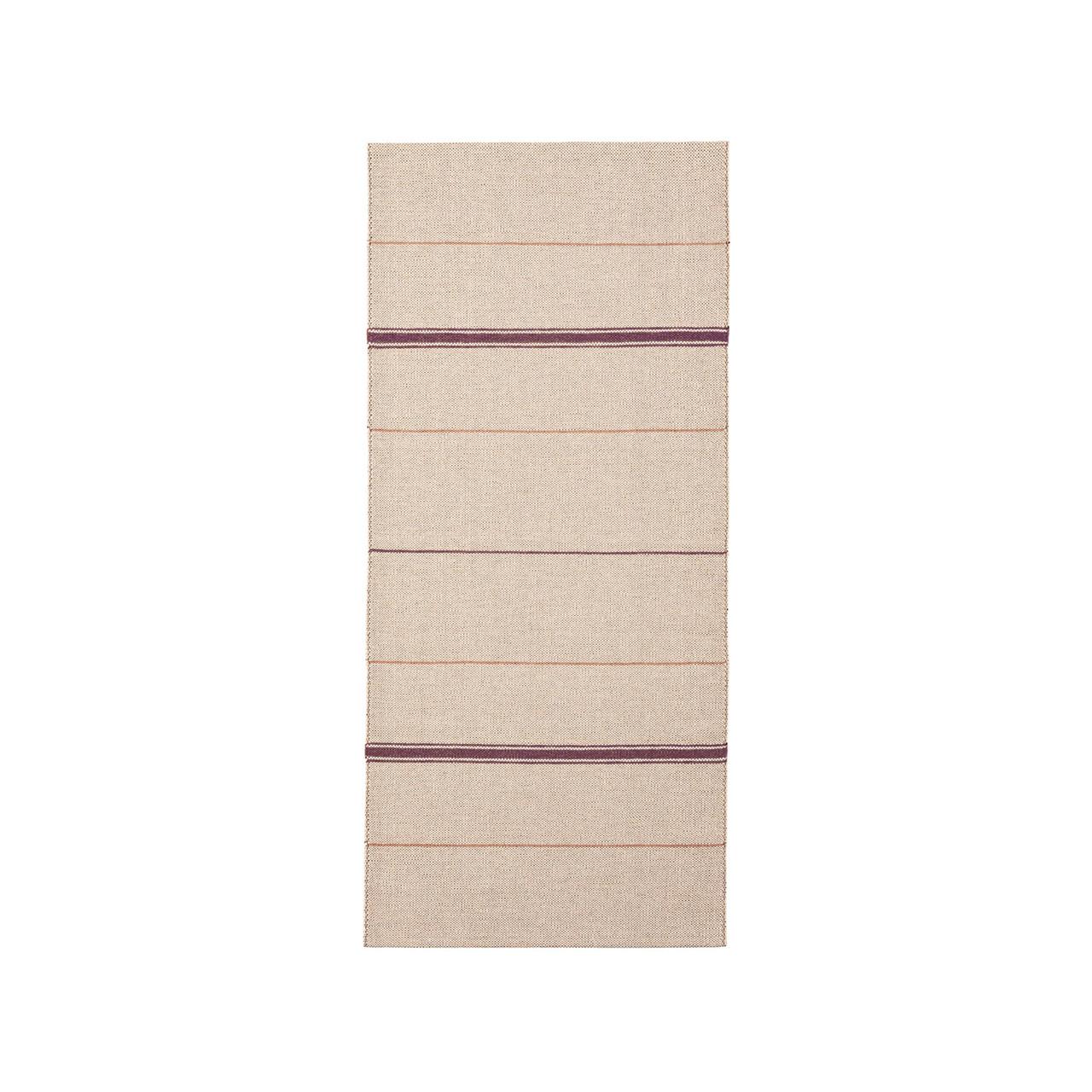 Brita Sweden Vinyl Teppich 'Trapeze'  80 x 150 cm ,  Bordeaux