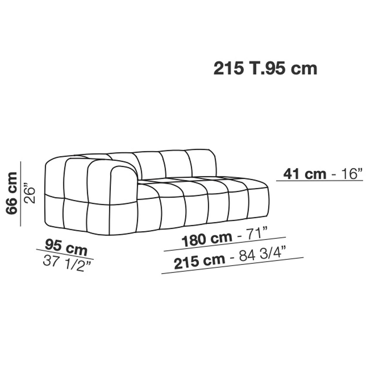 Sofa 'Strips' mit Chaiselongue Skizzen